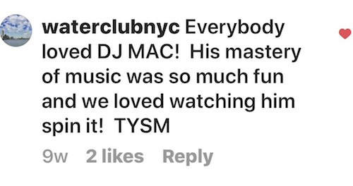 instagram note about DJ CAM