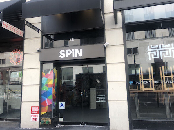Spin Front Sign