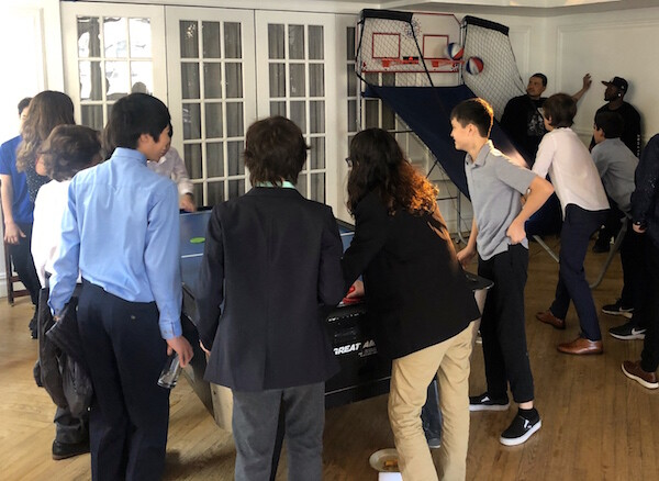kids playing sports games at Bar Mitzvah NYC