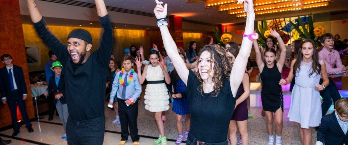 Home Slider – Mitzvah at Brasserie 8 1/2 NYC with Dancers